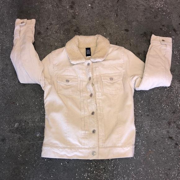 Gap Jackets Coats Corduroy Sherpa Jacket Jean Jacket Sz S Poshmark